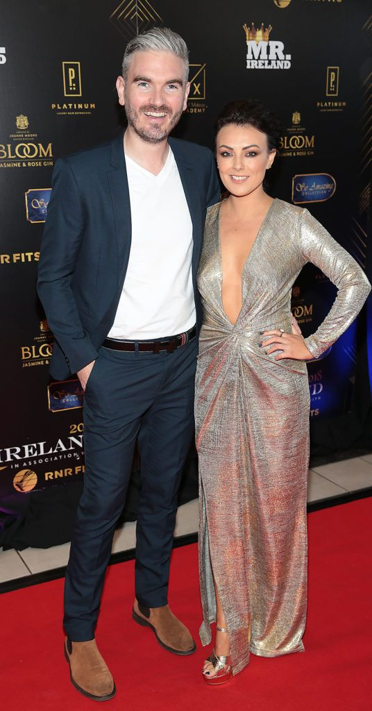 Cillian O Sullivan and Debbie McQuillan at the grand final of Miss Ireland 2018 in association with RNR Fits at the Helix Theatre, Dublin. Photo by Brian McEvoy