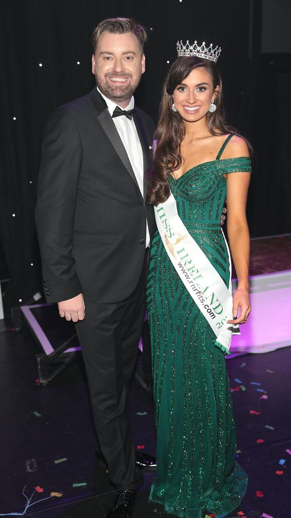 Brendan Scully and Aoife O Sullivan at the grand final of Miss Ireland 2018 in association with RNR Fits at the Helix Theatre, Dublin. Photo by Brian McEvoy