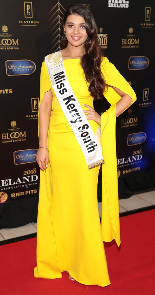 Denise Hickey at the grand final of Miss Ireland 2018 in association with RNR Fits at the Helix Theatre, Dublin. Photo by Brian McEvoy