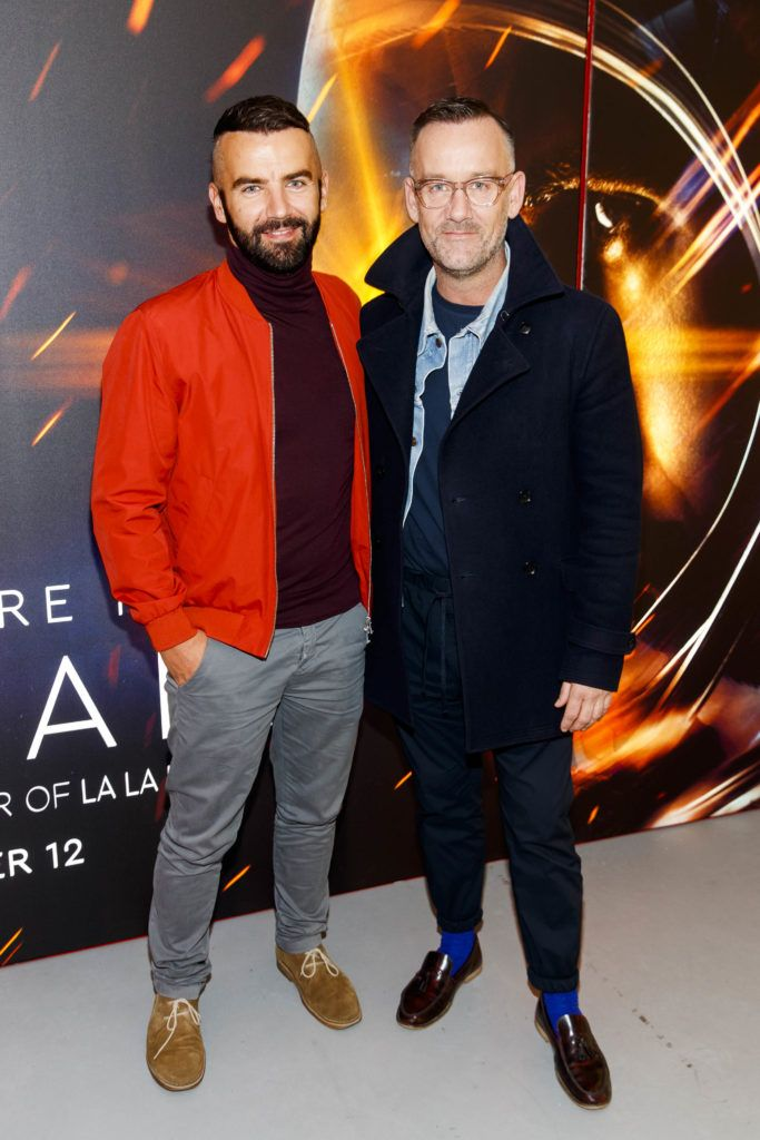 Adam Maryniak and Brendan Courtney pictured at an exclusive first look at up-coming feature film First Man at Dublin's Light House Cinema. Picture Andres Poveda