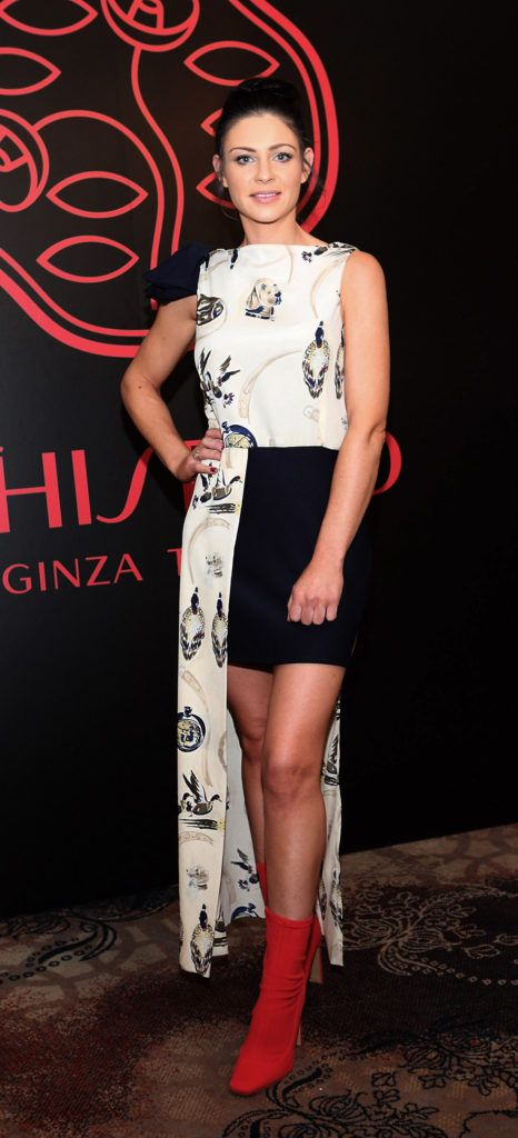 Ana Maguire at the Shiseido International Charity Lunch and Fashion Show in aid of the Rape Crisis Centre hosted by catwalk queen Miss Candy at the Westin Hotel, Dublin. Pic Brian McEvoy Photography