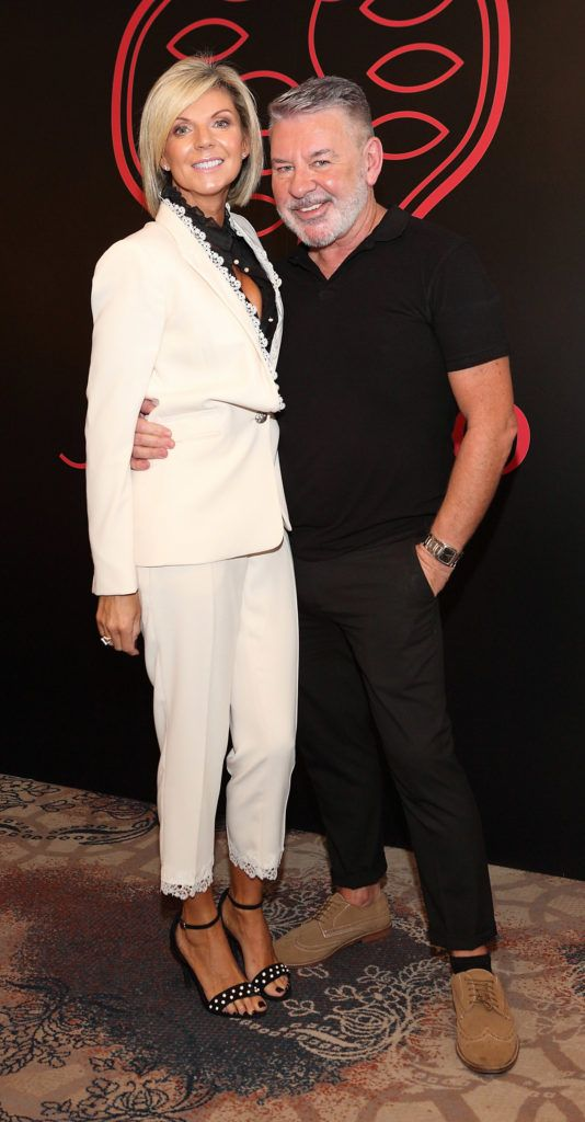 Lisa Duffy and Michael Doyle at the Shiseido International Charity Lunch and Fashion Show in aid of the Rape Crisis Centre hosted by catwalk queen Miss Candy at the Westin Hotel, Dublin. Pic Brian McEvoy Photography