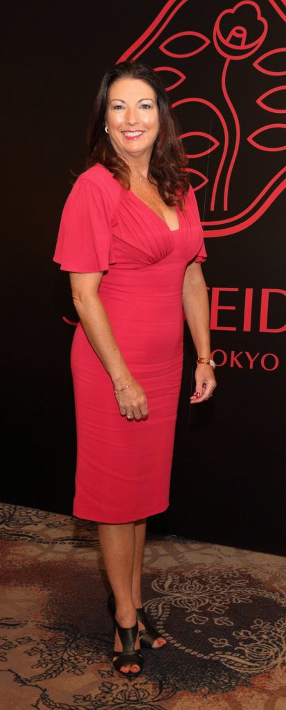 Karen Moloney at the Shiseido International Charity Lunch and Fashion Show in aid of the Rape Crisis Centre hosted by catwalk queen Miss Candy at the Westin Hotel, Dublin. Pic Brian McEvoy Photography