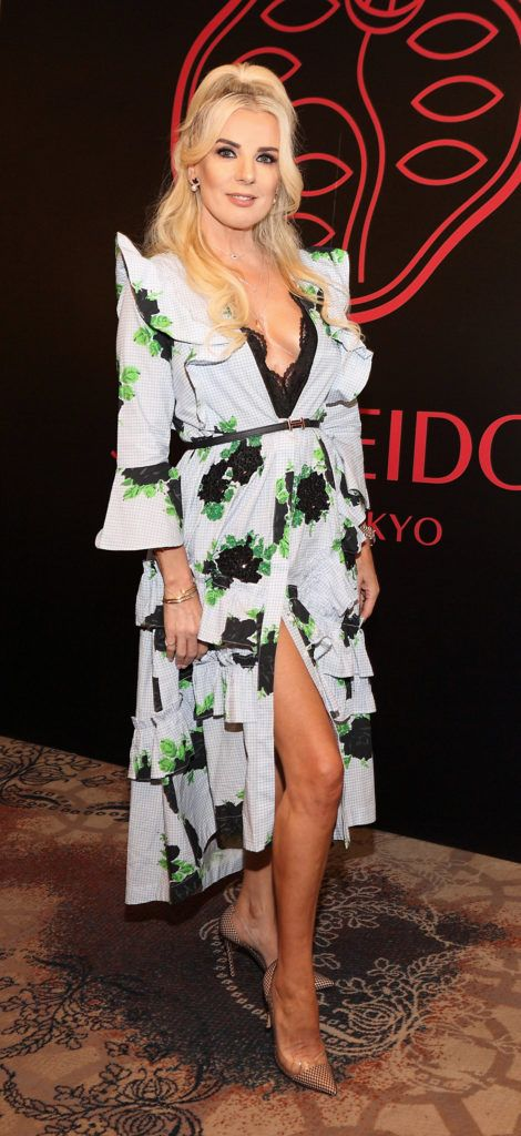 Roz Flanagan at the Shiseido International Charity Lunch and Fashion Show in aid of the Rape Crisis Centre hosted by catwalk queen Miss Candy at the Westin Hotel, Dublin. Pic Brian McEvoy Photography