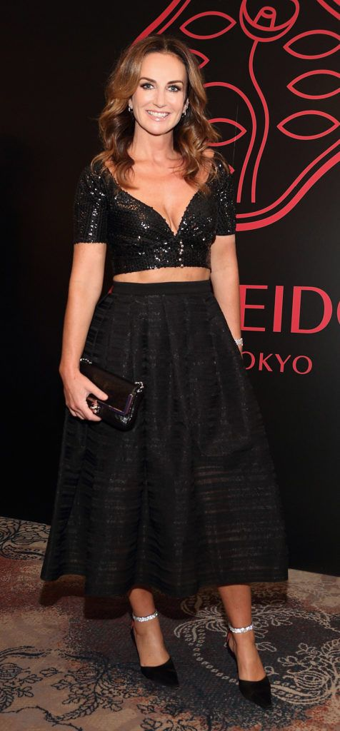 Lorraine Keane at the Shiseido International Charity Lunch and Fashion Show in aid of the Rape Crisis Centre hosted by catwalk queen Miss Candy at the Westin Hotel, Dublin. Pic Brian McEvoy Photography