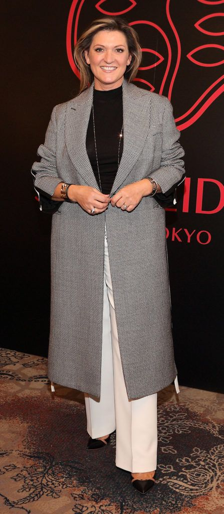 Emma Coppola at the Shiseido International Charity Lunch and Fashion Show in aid of the Rape Crisis Centre hosted by catwalk queen Miss Candy at the Westin Hotel, Dublin. Pic Brian McEvoy Photography