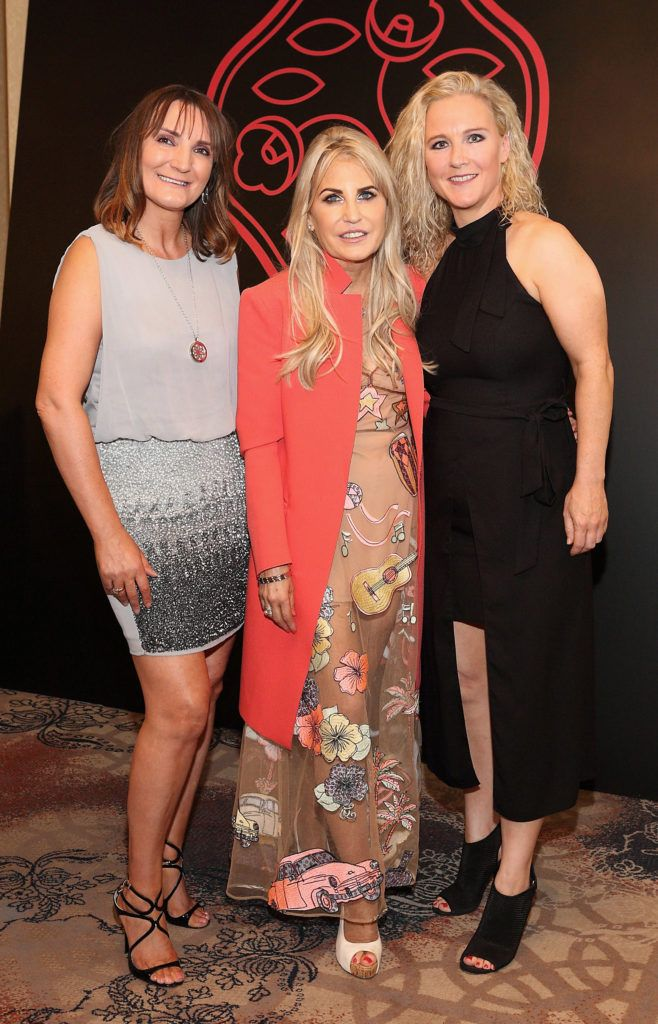 Helen McHugh, Cliodhna Crowley and Rachel Glennon at the Shiseido International Charity Lunch and Fashion Show in aid of the Rape Crisis Centre hosted by catwalk queen Miss Candy at the Westin Hotel, Dublin. Pic Brian McEvoy Photography