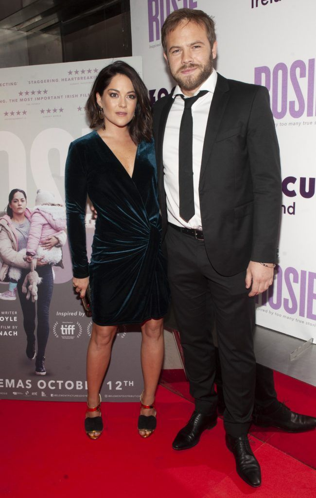 Sarah Greene, Moe Dunford pictured at the European premiere of 'Rosie' at the Light House Cinema, Dublin. Photo: Patrick O'Leary