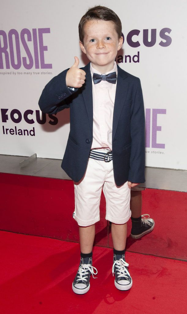 Daragh McKenzie (age 9) pictured at the European premiere of 'Rosie' at the Light House Cinema, Dublin. Photo: Patrick O'Leary