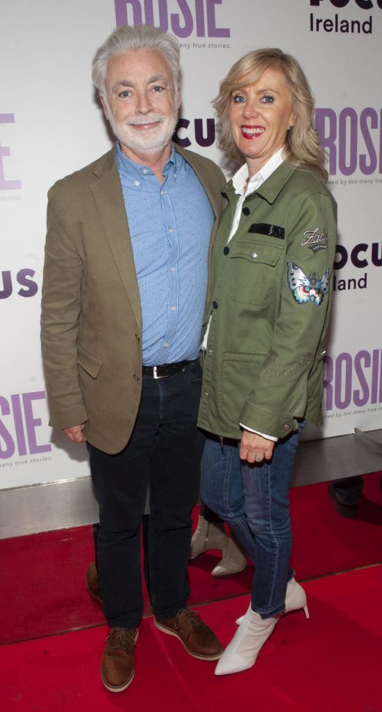 Eoin Colfer and Jackie Colfer pictured at the European premiere of 'Rosie' at the Light House Cinema, Dublin. Photo: Patrick O'Leary
