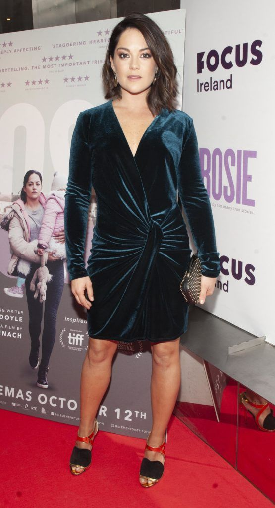 Sarah Greene pictured at the European premiere of 'Rosie' at the Light House Cinema, Dublin. Photo: Patrick O'Leary