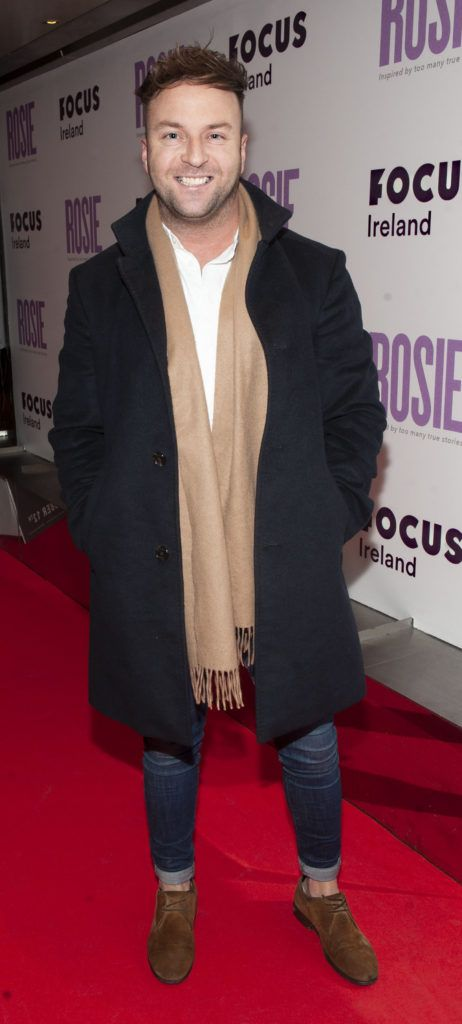 Wayne Law pictured at the European premiere of 'Rosie' at the Light House Cinema, Dublin. Photo: Patrick O'Leary