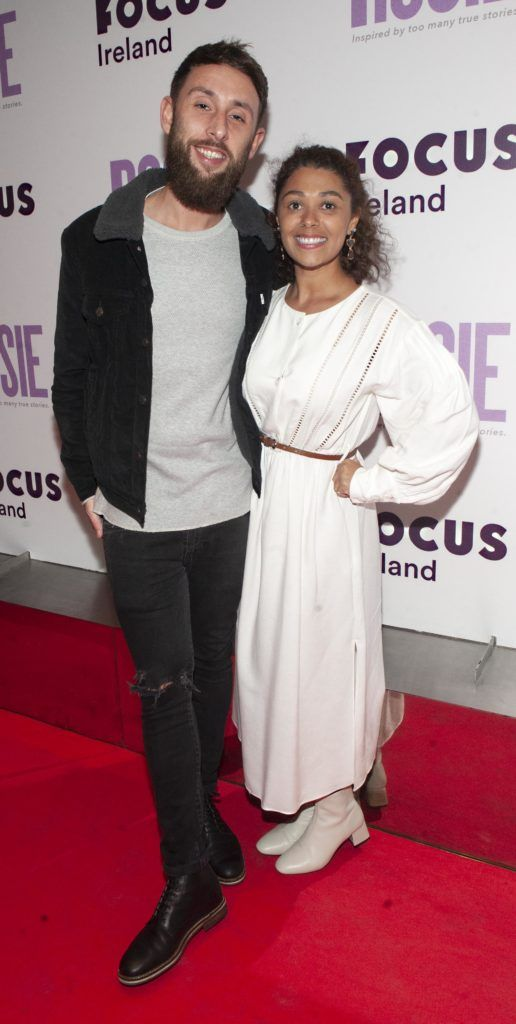 Jade Jordan and Thomas Pain pictured at the European premiere of 'Rosie' at the Light House Cinema, Dublin. Photo: Patrick O'Leary