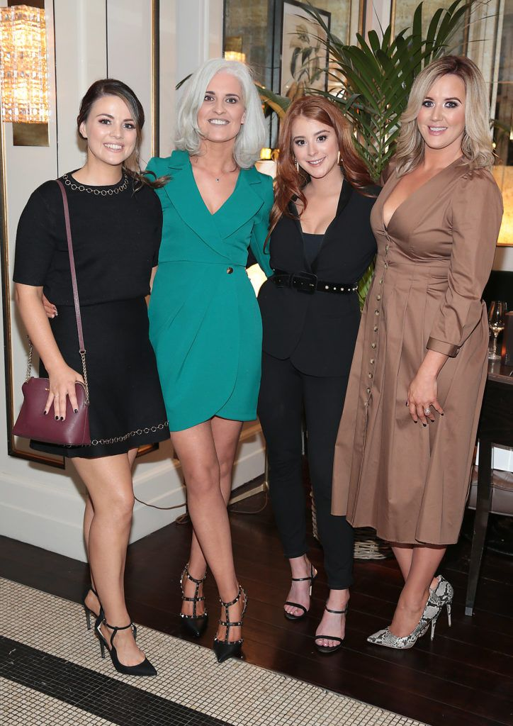 Amanda Davitt, Jane Buckley, Megan Connery and Linda McNamee at the launch of Bellamianta Luxury Tan's Ultimate Glowgetter Kit at Dublin's Westbury Hotel. Picture: Brian McEvoy