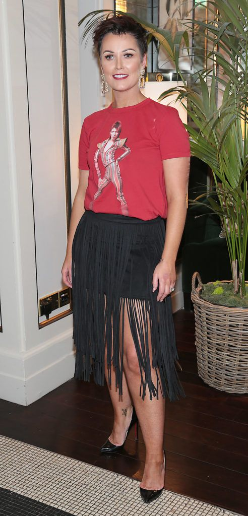 Rosie Kirk at the launch of Bellamianta Luxury Tan's Ultimate Glowgetter Kit at Dublin's Westbury Hotel. Picture: Brian McEvoy