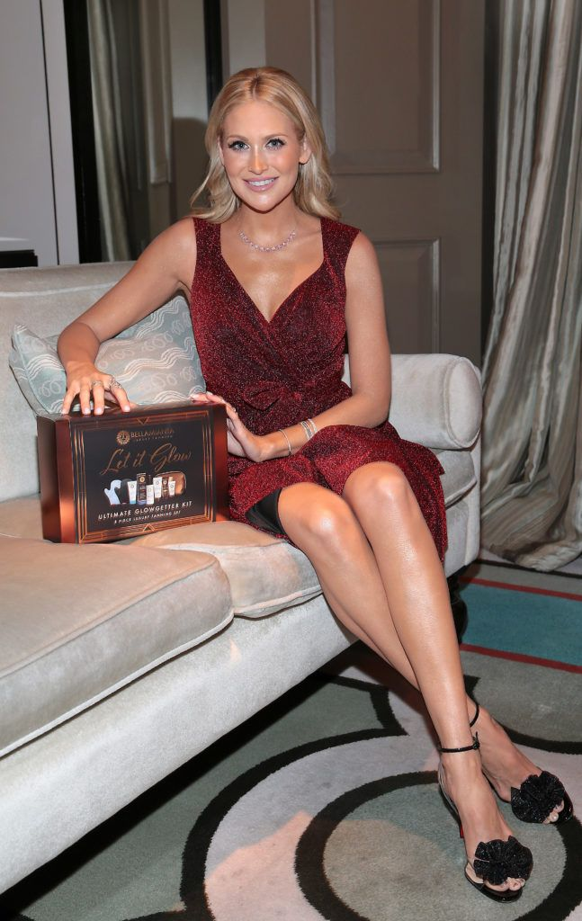 Stephanie Pratt at the launch of Bellamianta Luxury Tan's Ultimate Glowgetter Kit at Dublin's Westbury Hotel. Picture: Brian McEvoy