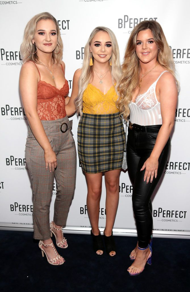 Jane McCann, Tom O Hanlon and Alana Manderson pictured at launch of the BPerfect Cosmetics Born Ready Lip Kits in partnership with MUA Ellie Kelly at Twenty Two, Dublin. Photo: Brian McEvoy