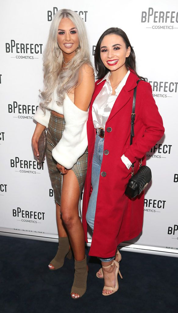 Alannah McBrien and Rebekah O Leary pictured at launch of the BPerfect Cosmetics Born Ready Lip Kits in partnership with MUA Ellie Kelly at Twenty Two, Dublin. Photo: Brian McEvoy