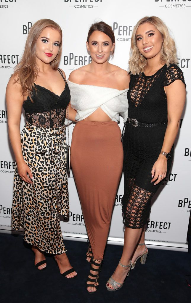 Aoibheann McKinley , Aishling Gallagher and Kate Andrews pictured at launch of the BPerfect Cosmetics Born Ready Lip Kits in partnership with MUA Ellie Kelly at Twenty Two, Dublin. Photo: Brian McEvoy