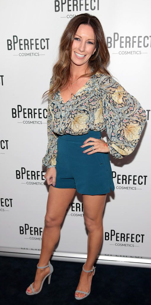 Claire Tenwick pictured at launch of the BPerfect Cosmetics Born Ready Lip Kits in partnership with MUA Ellie Kelly at Twenty Two, Dublin. Photo: Brian McEvoy