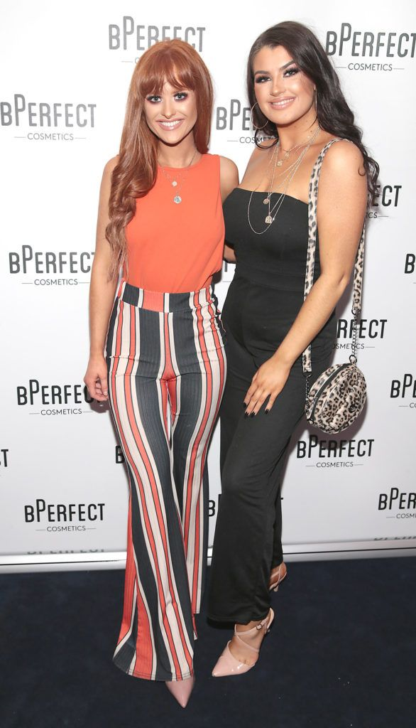 Ashling Brady and Erin Toman pictured at launch of the BPerfect Cosmetics Born Ready Lip Kits in partnership with MUA Ellie Kelly at Twenty Two, Dublin. Photo: Brian McEvoy
