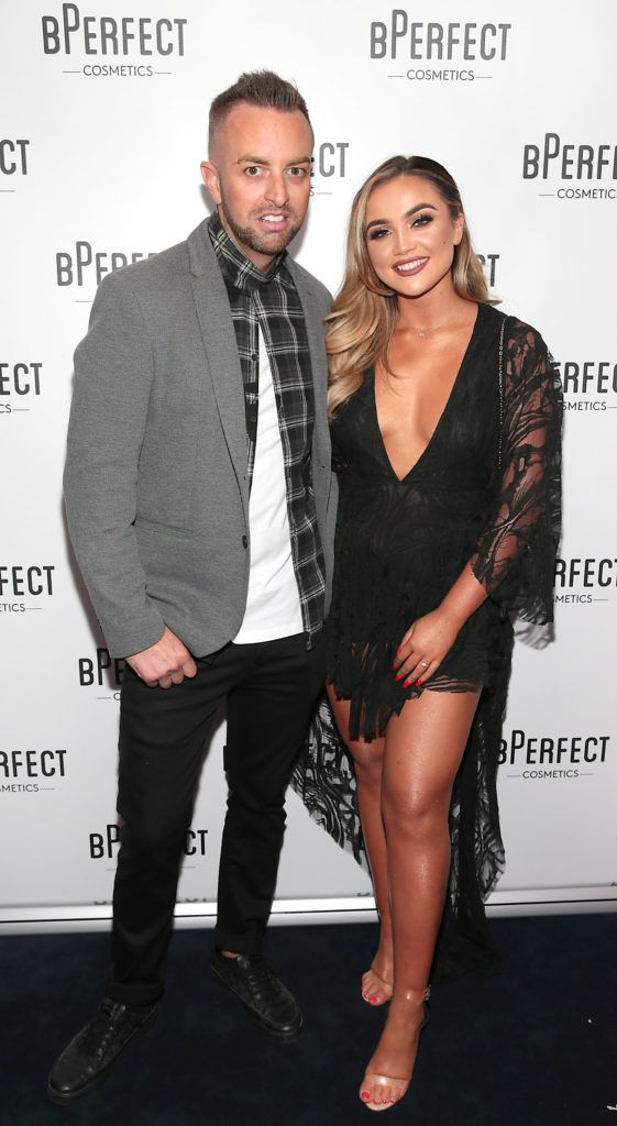 Brendan McDowell and Ellie Kelly pictured at launch of the BPerfect Cosmetics Born Ready Lip Kits in partnership with MUA Ellie Kelly at Twenty Two, Dublin. Photo: Brian McEvoy