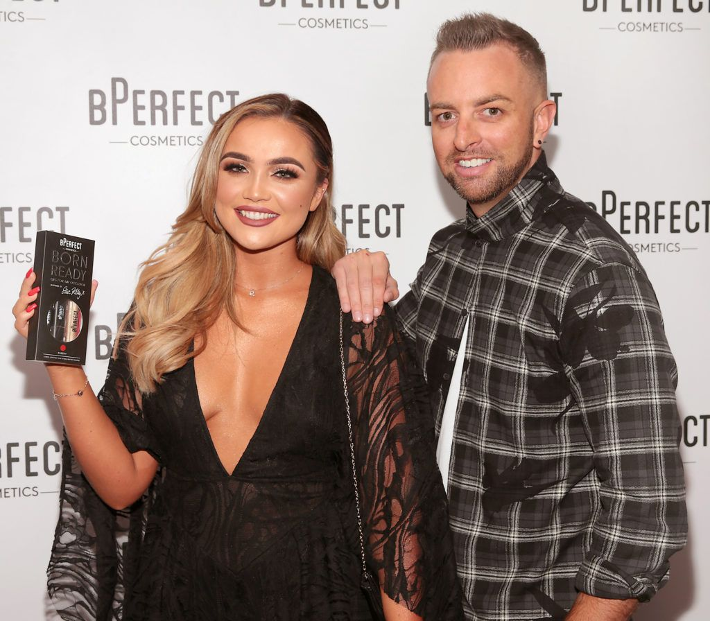Ellie Kelly and Brenda McDowell pictured at launch of the BPerfect Cosmetics Born Ready Lip Kits in partnership with MUA Ellie Kelly at Twenty Two, Dublin. Photo: Brian McEvoy