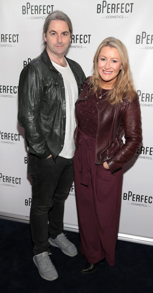 David Torpey and Andrea Hayes pictured at launch of the BPerfect Cosmetics Born Ready Lip Kits in partnership with MUA Ellie Kelly at Twenty Two, Dublin. Photo: Brian McEvoy
