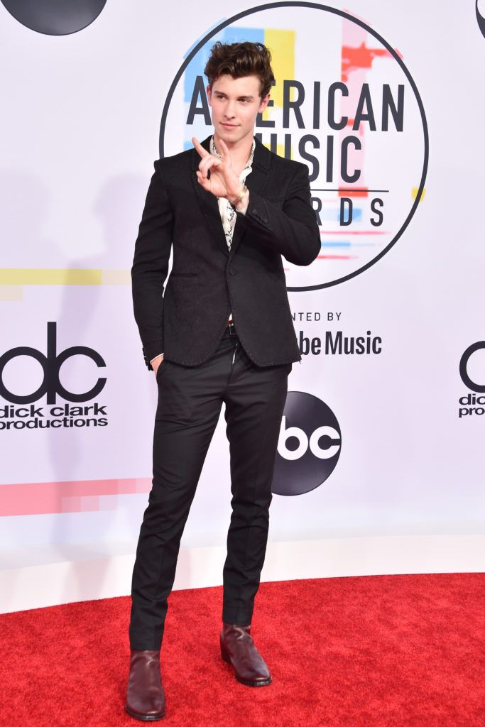 Shawn Mendes attends the 2018 American Music Awards at Microsoft Theater on October 9, 2018 in Los Angeles, California.  (Photo by David Crotty/Patrick McMullan via Getty Images)