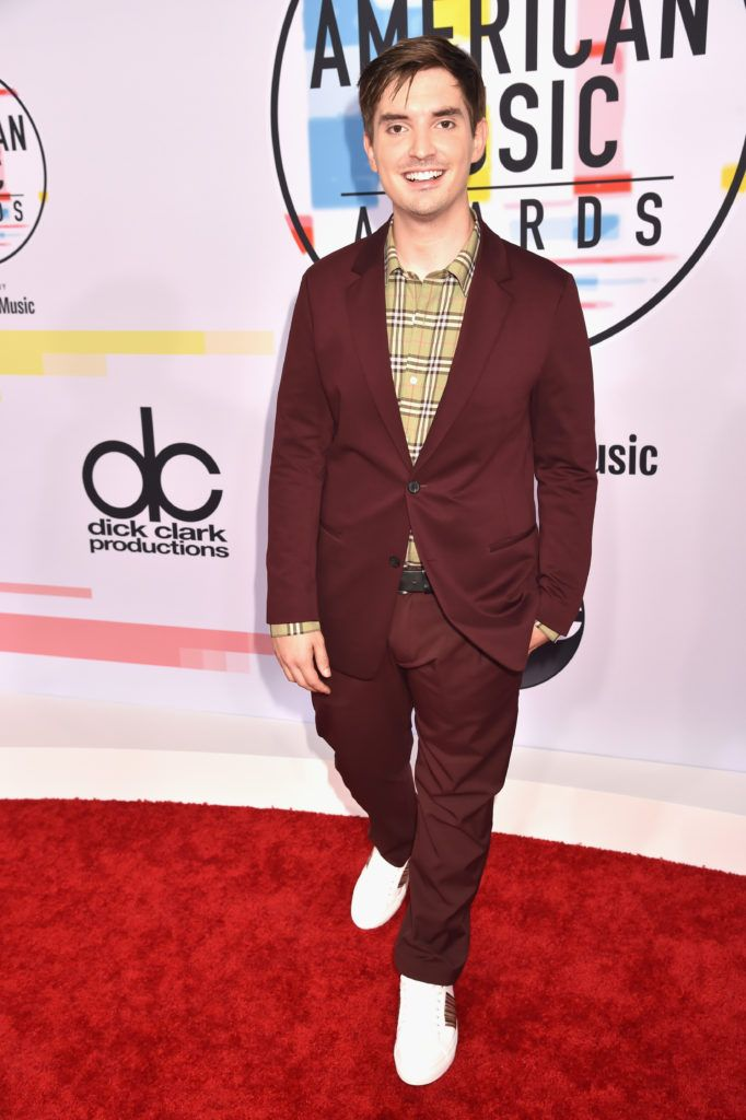 Zach Sang attends the 2018 American Music Awards at Microsoft Theater on October 9, 2018 in Los Angeles, California.  (Photo by Kevin Mazur/Getty Images For dcp)