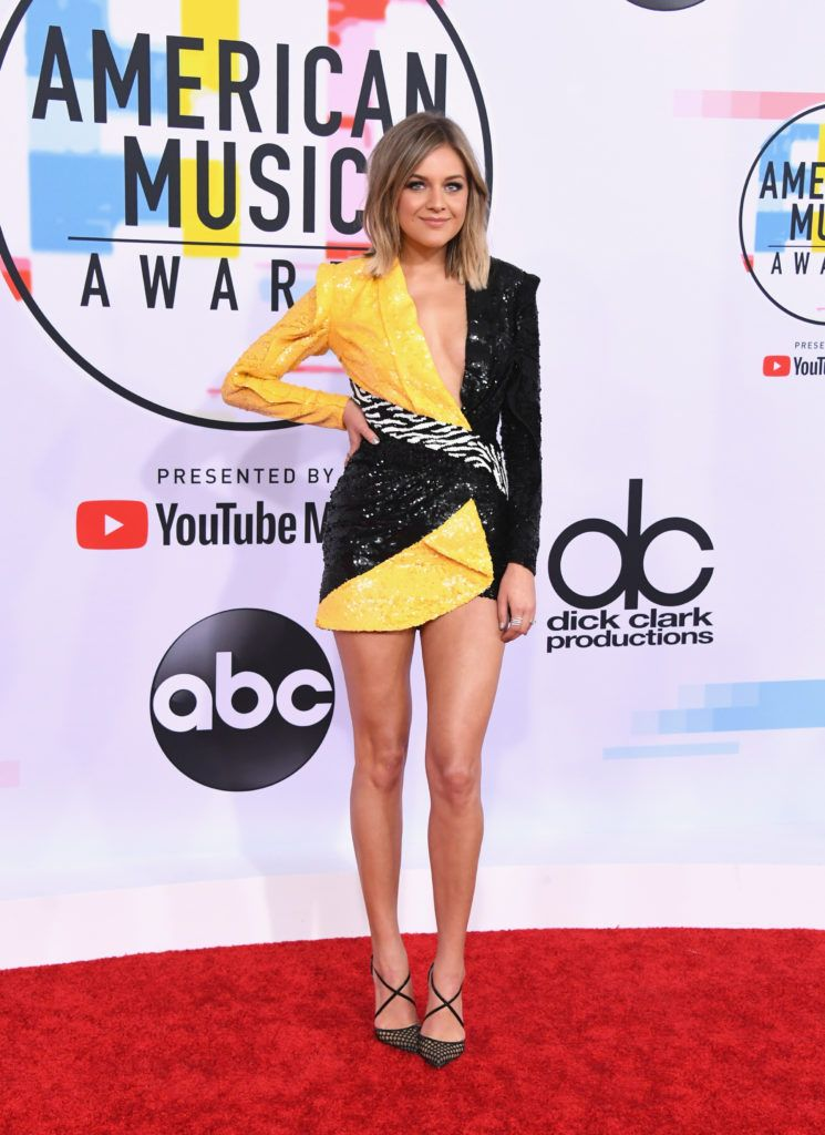Kelsea Ballerini attends the 2018 American Music Awards at Microsoft Theater on October 9, 2018 in Los Angeles, California.  (Photo by Jon Kopaloff/FilmMagic)