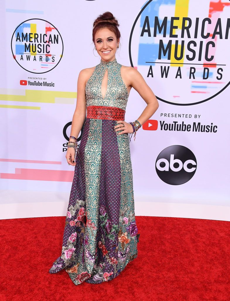 Lauren Daigle arrives at the 2018 American Music Awards at Microsoft Theater on October 9, 2018 in Los Angeles, California.  (Photo by Steve Granitz/WireImage)