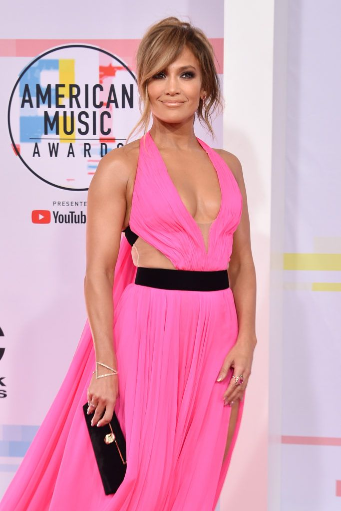 Jennifer Lopez attends the 2018 American Music Awards at Microsoft Theater on October 9, 2018 in Los Angeles, California.  (Photo by David Crotty/Patrick McMullan via Getty Images)