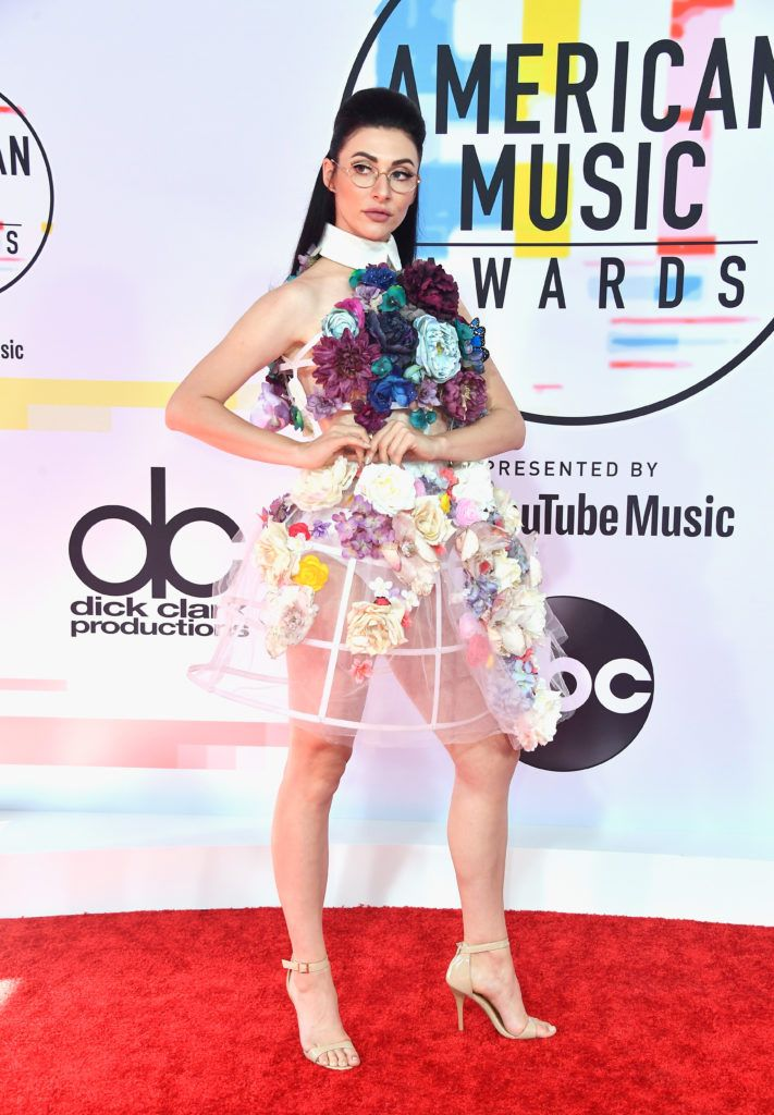 Qveen Herby attends the 2018 American Music Awards at Microsoft Theater on October 9, 2018 in Los Angeles, California.  (Photo by Frazer Harrison/Getty Images)