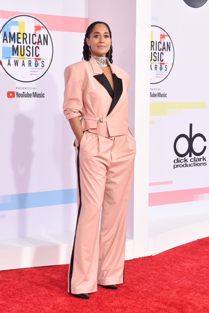 Tracee Ellis Ross attends the 2018 American Music Awards at Microsoft Theater on October 9, 2018 in Los Angeles, California.  (Photo by David Crotty/Patrick McMullan via Getty Images)
