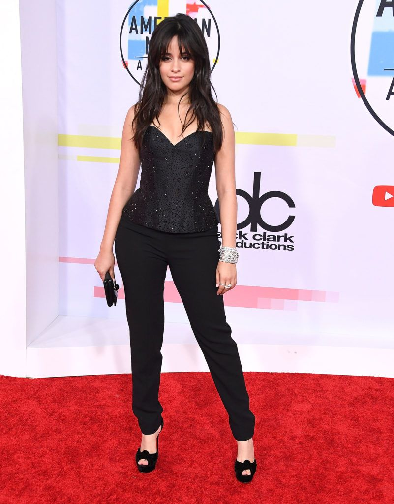 Camila Cabello arrives at the 2018 American Music Awards at Microsoft Theater on October 9, 2018 in Los Angeles, California.  (Photo by Steve Granitz/WireImage)