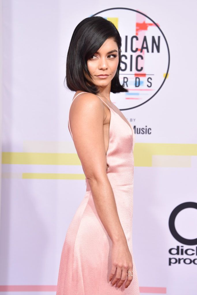 Vanessa Hudgens attends the 2018 American Music Awards at Microsoft Theater on October 9, 2018 in Los Angeles, California.  (Photo by David Crotty/Patrick McMullan via Getty Images)