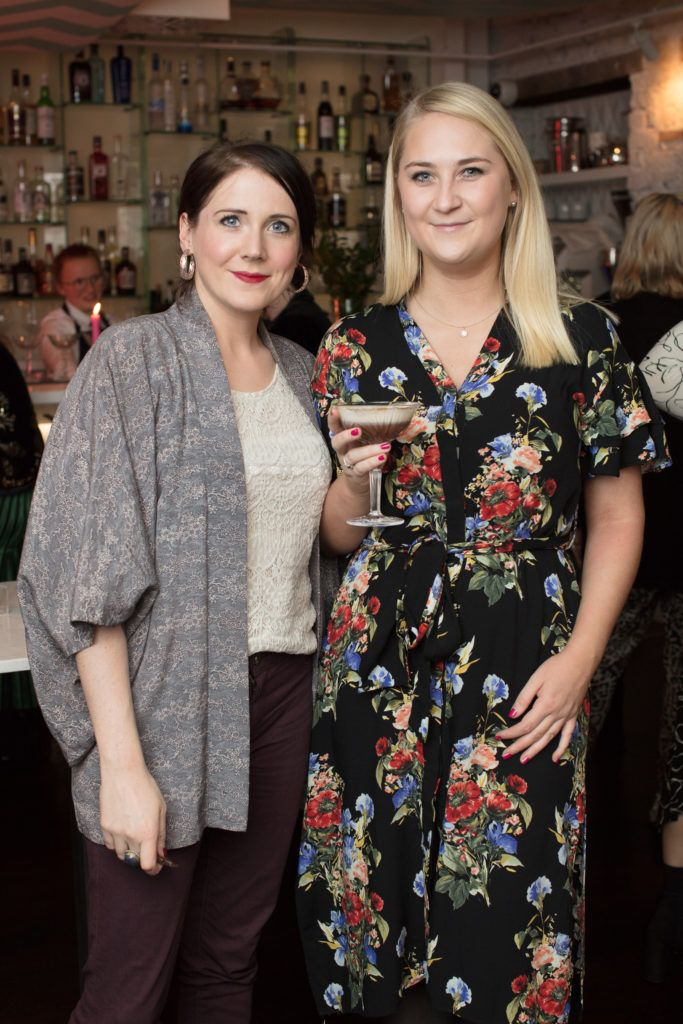 Maeve Heslin & Jenny Dillon pictured at the launch of Lily O'Brien's 'Share Wisely' bags. Photo: Anthony Woods