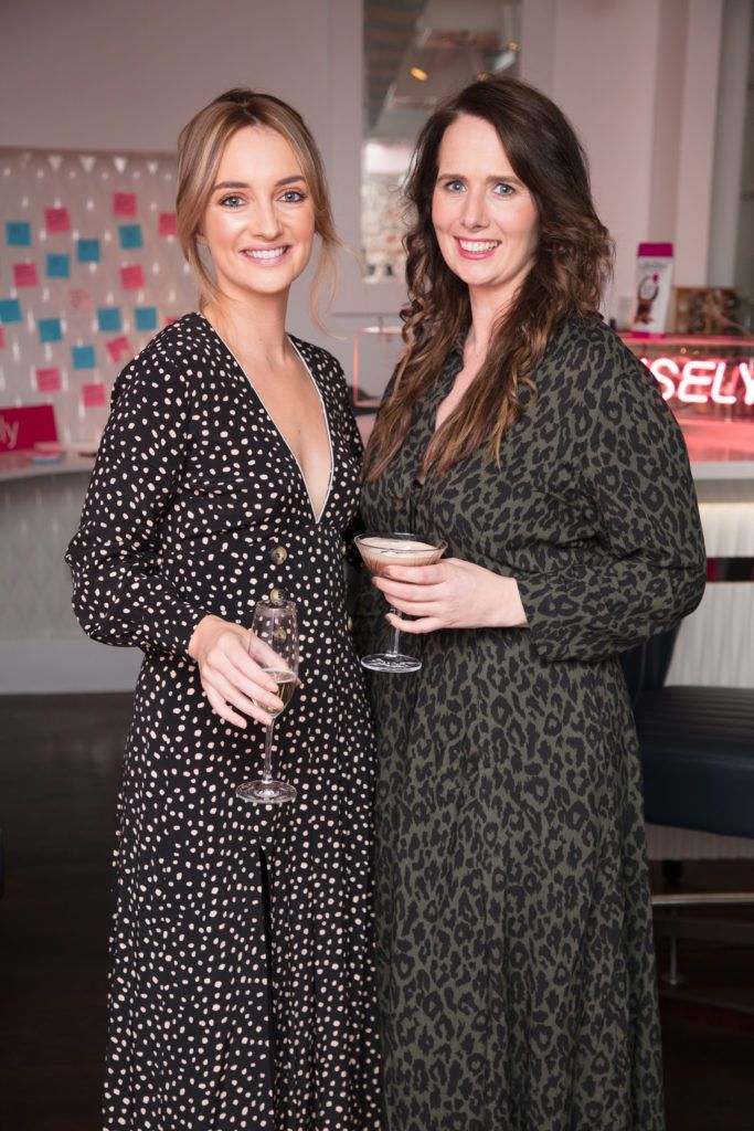 Caroline Foran & Hillary Hughes pictured at the launch of Lily O'Brien's 'Share Wisely' bags. Photo: Anthony Woods