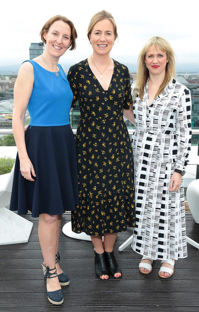 Cathy Kidd, Kate Devereux and Eimear Dunne pictured at the launch of WaterWipes Facial Wipes at the Marker Hotel, Dublin. Picture: Brian McEvoy