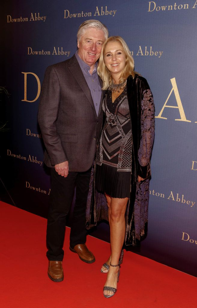 Pat Kenny and wife Kathy pictured at the Universal Pictures Irish premiere screening of DOWNTON ABBEY at The Stella Theatre, Rathmines. Releasing in cinemas across Ireland from this Friday September 13th, starring the original cast, the worldwide phenomenon DOWNTON ABBEY, becomes a grand motion picture event. Picture Andres Poveda