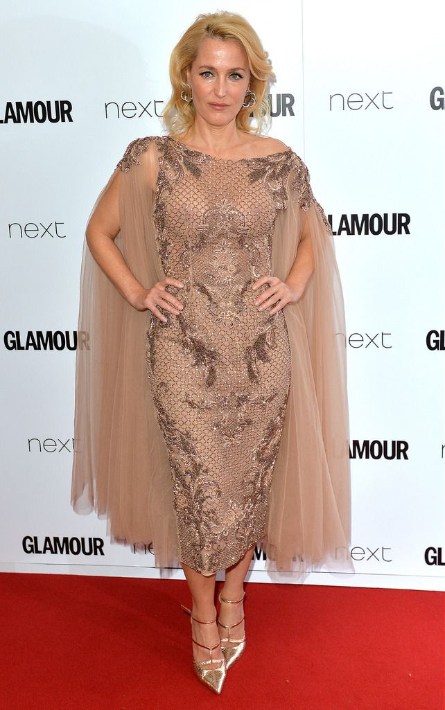 LONDON, ENGLAND - JUNE 02:  Gillian Anderson attends the Glamour Women Of The Year Awards at Berkeley Square Gardens on June 2, 2015 in London, England.  (Photo by Anthony Harvey/Getty Images)