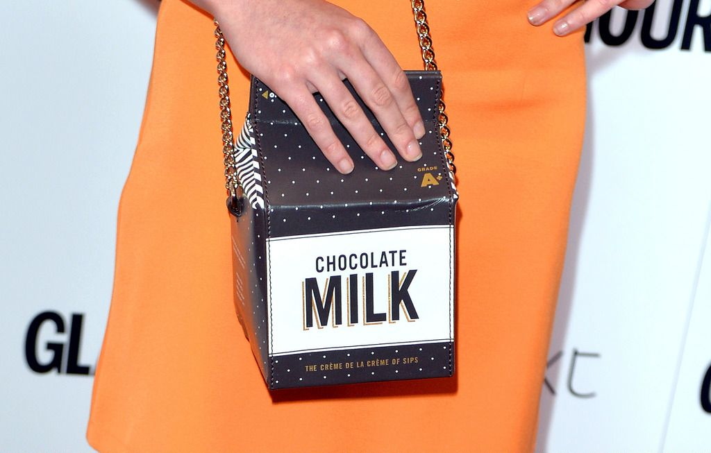 LONDON, ENGLAND - JUNE 02:  Maisie Williams, bag detail, attends the Glamour Women Of The Year Awards at Berkeley Square Gardens on June 2, 2015 in London, England.  (Photo by Anthony Harvey/Getty Images)