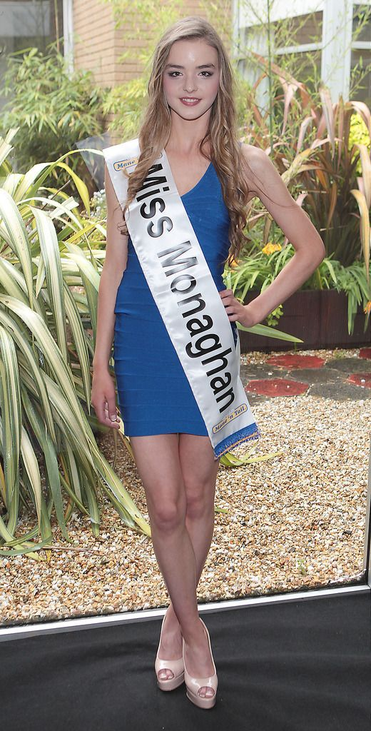 The Final Countdown for Miss Ireland 2014 has officially begun!!..Miss Monaghan- Jessica Drohan: 19 yr old Jessica is from Tully, Monaghan and is currently studying PE with Biology in DCU. She has been a member of Monaghan Harps Ladies GAA for 10years and has silver and bronze awards in the GAISCE –President's Award. She is now very focused on athletics and wants to combine her love for athletics with education and believes everyone has the right to education regardless of ability. She is a fluent Irish speaker and looks up to her Parents. She admires Jessica Ennis for all her sporting achievements....This morning saw all 36 Finalists for the Miss Ireland 2014  in association with Mane n' Tail pageant come together in the Ballsbridge Hotel to kick off the Finale of the competition. Amongst this dazzling array of beautiful ladies awaits the one who will tomorrow evening be crowned Miss Ireland 2014...The lucky girl will be selected at the Gala Final in the Ballsbridge Hotel by the esteemed panel of judges, with highlights of the evening to include a casino for all guests in attendence and a performance by singer/ songwriter and former Ireland representative at the Eurovision, Ryan Dolan...Picture:Brian McEvoy.