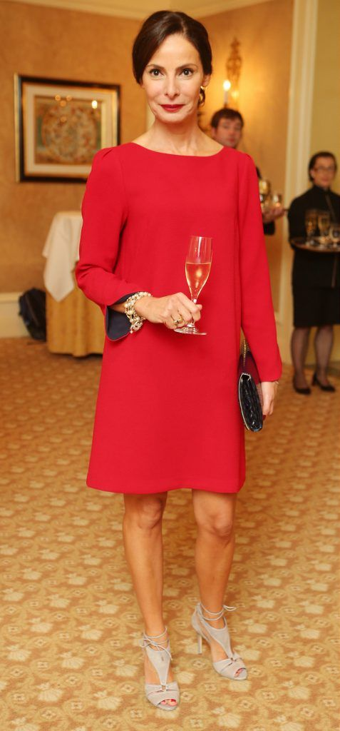 Pictured at the Brown Thomas / ISPCC charity luncheon at the Four Seasons Hotel in Dublin was Caroline Sleiman. Photograph: Leon Farrell / Photocall Ireland