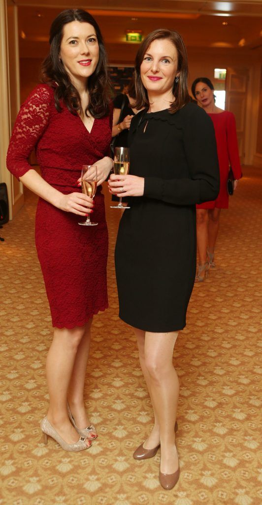 Pictured at the Brown Thomas / ISPCC charity luncheon at the Four Seasons Hotel in Dublin were (l to r): Deirdre Kelly, Laura Dunne. Photograph: Leon Farrell / Photocall Ireland