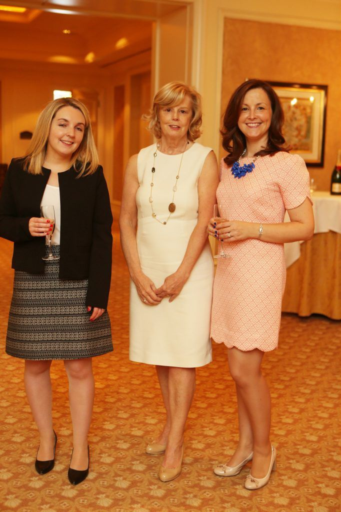 Pictured at the Brown Thomas / ISPCC charity luncheon at the Four Seasons Hotel in Dublin were (l to r): Audrey Leahy, Frances Kennedy, Jennifer Connolly. Photograph: Leon Farrell / Photocall Ireland