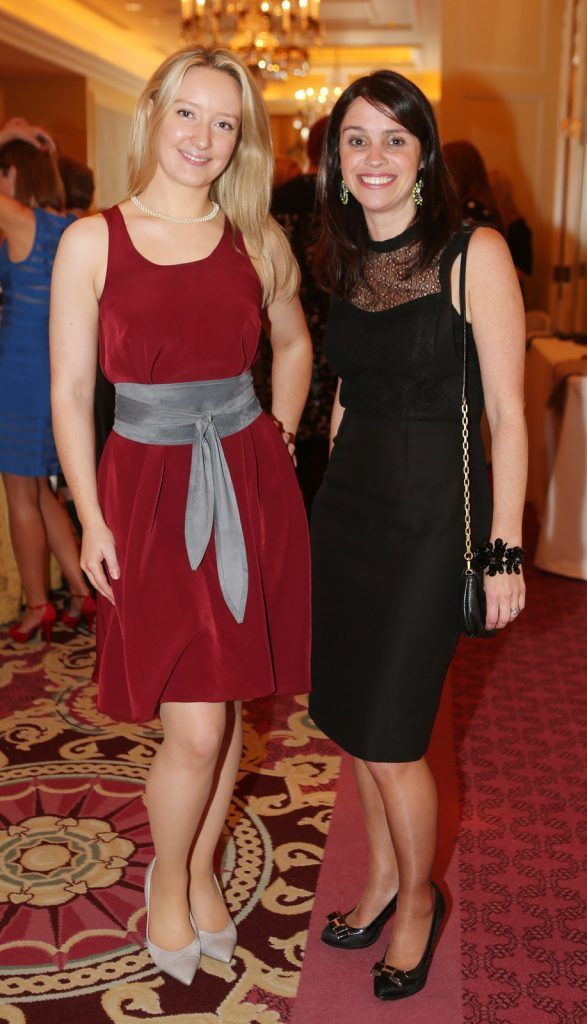 Pictured at the Brown Thomas / ISPCC charity luncheon at the Four Seasons Hotel in Dublin were (l to r): Rachel Fox, Cliona Donnelly. Photograph: Leon Farrell / Photocall Ireland