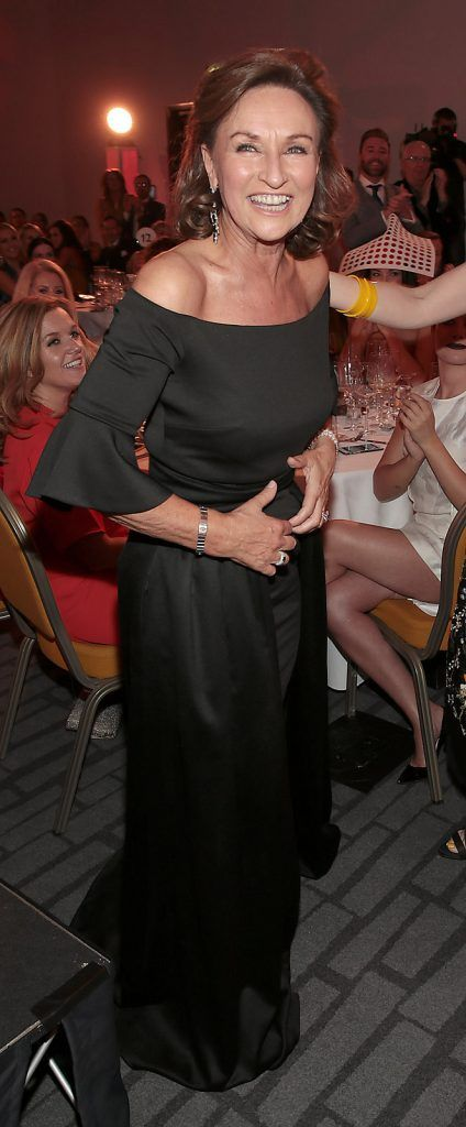Celia Holman Lee when it was announced that she was the most stylish lady on the night at The Marker Hotel for The  Peter Mark Vip Style Awards  .Picture:Brian McEvoy
