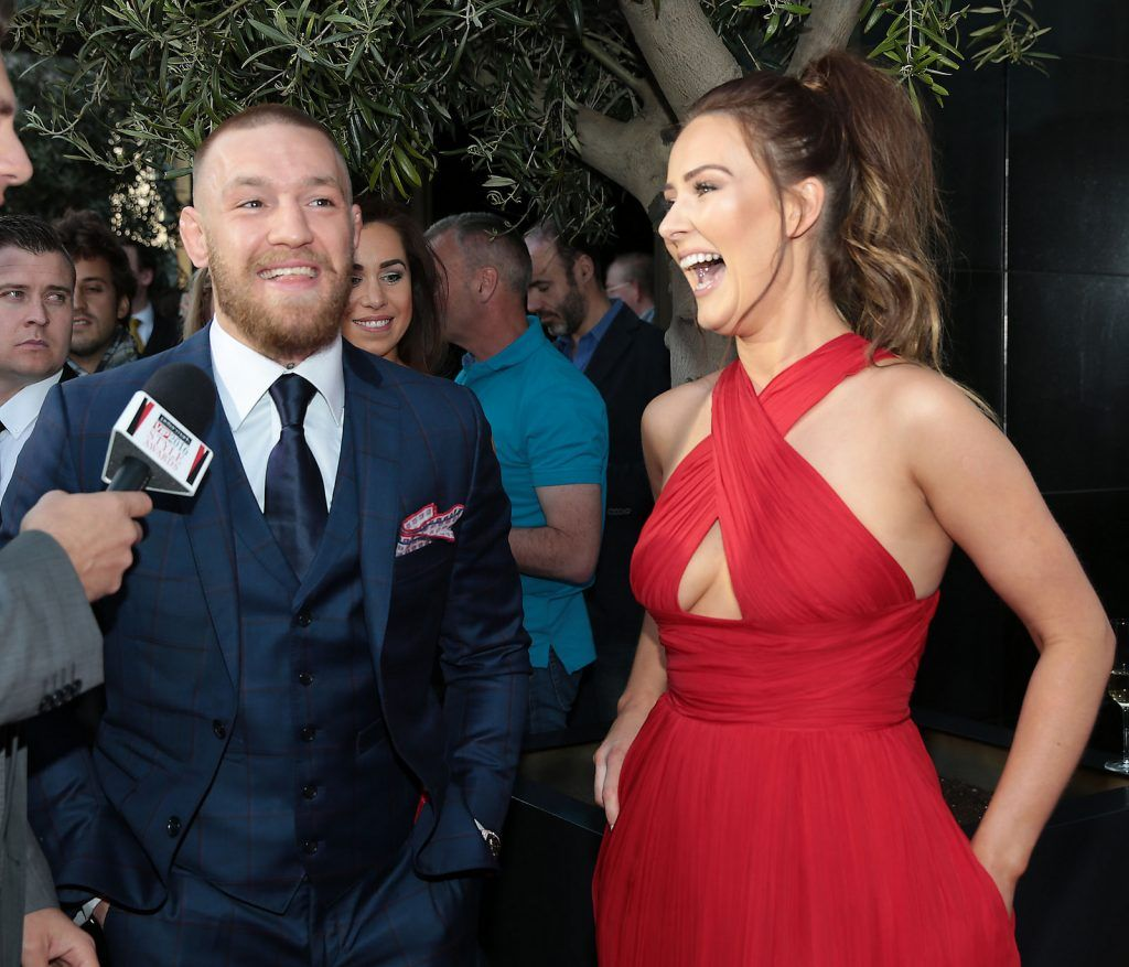 Conor McGregor and Dee Devlin arrive at The Peter Mark Vip Style Awards 2016  at The Marker Hotel in Dublin..Picture:Brian McEvoy